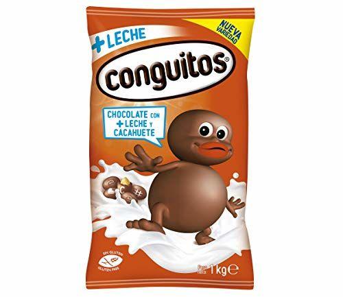 Conguitos, Fruto Seco Cubierto De Chocolate (Con Leche) - 4 De 1000 Gr. (Total 4000 Gr.)
