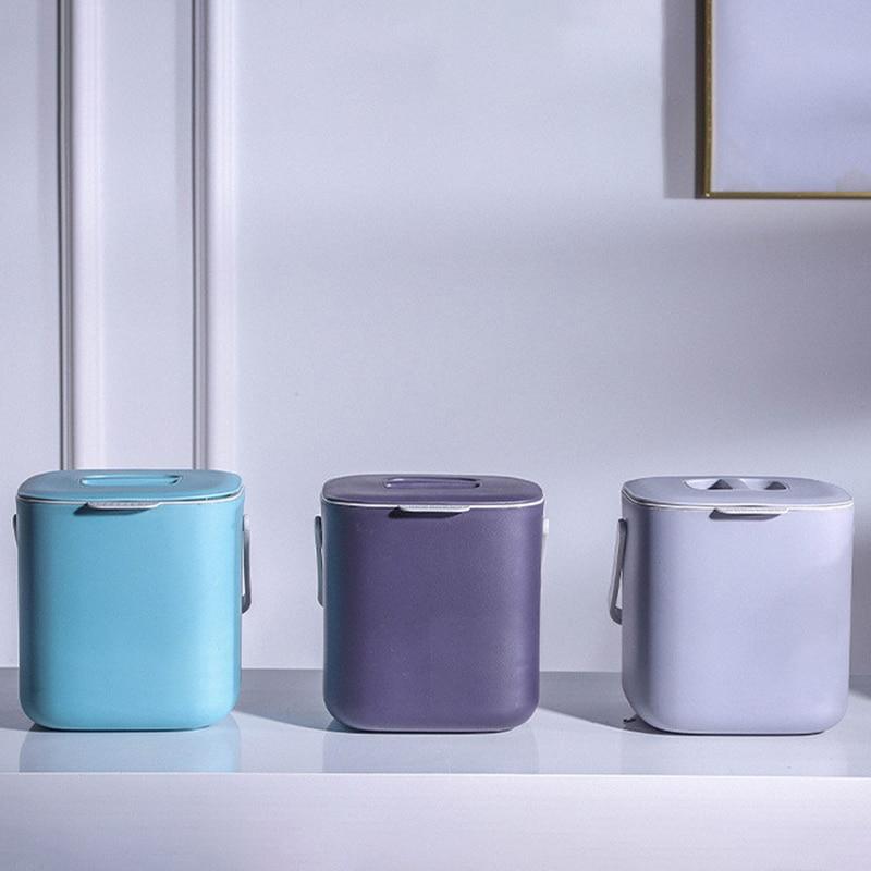 Plástico cozinha resíduos de alimentos lixo pode compostar com dreno recipiente de lixo organizador acessórios ferramentas