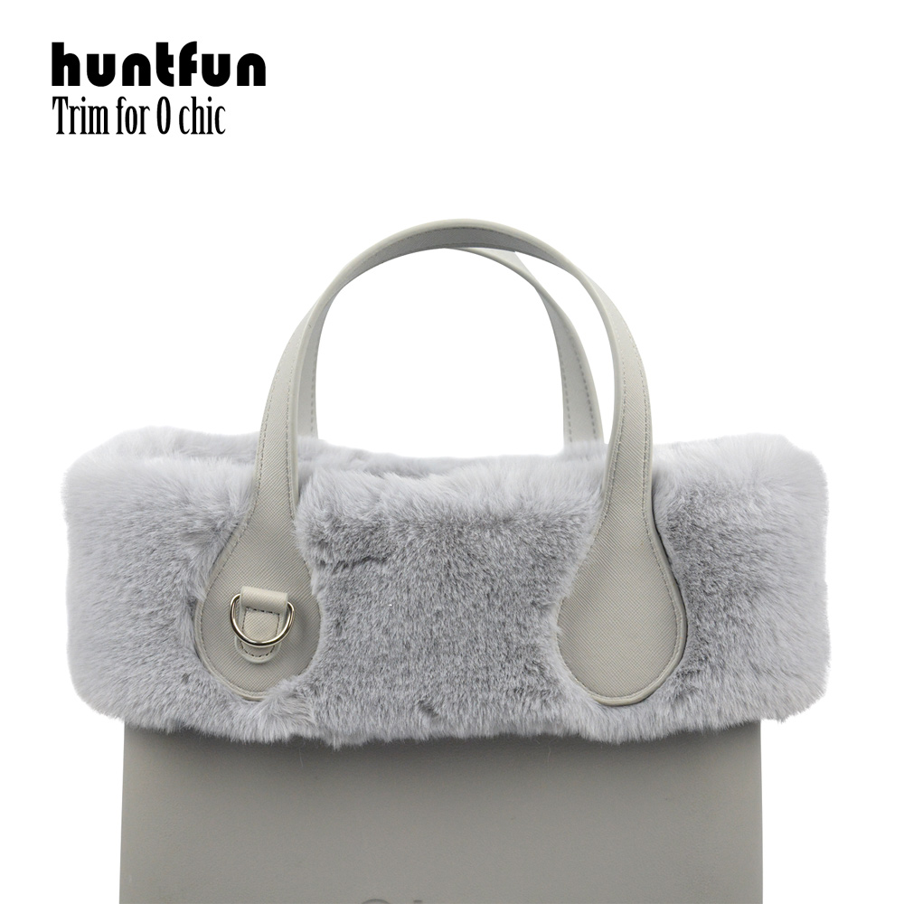 Huntfun New 8 Colors Women Bag Faux Rex Rabbit Fur Plush Trim For Chic O BAG Thermal Plush Decoration Fit For Ochic Obag