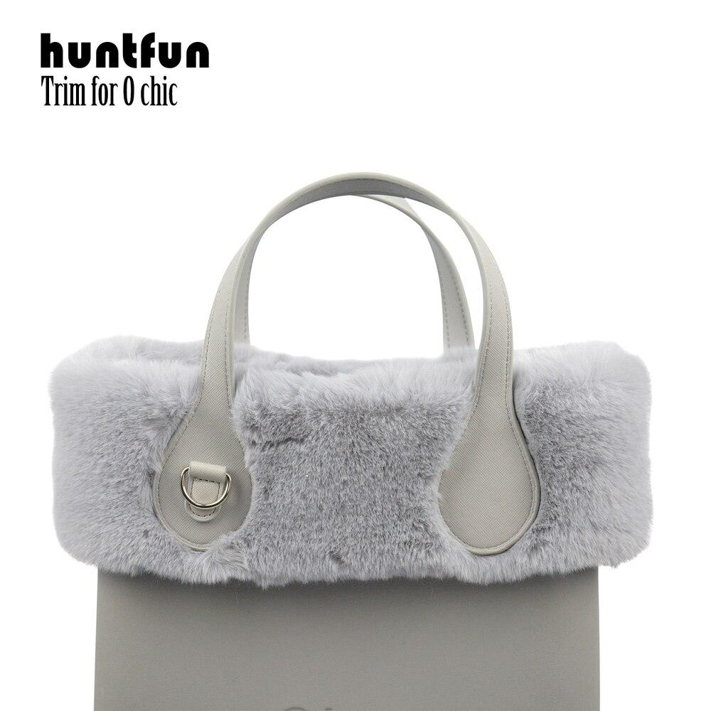 Huntfun New 8 Colors Women Bag Faux Rex Rabbit Fur Plush Trim For Chic O BAG Thermal Plush Decoration Fit For Ochic Obag