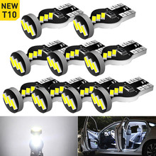 10x W5W T10 LED Canbus Bulb For BMW Mini Cooper R56 R53 E90 E46 F20 F10 E39 Z4 Car Interior Dome Light Trunk Parking Lamps White