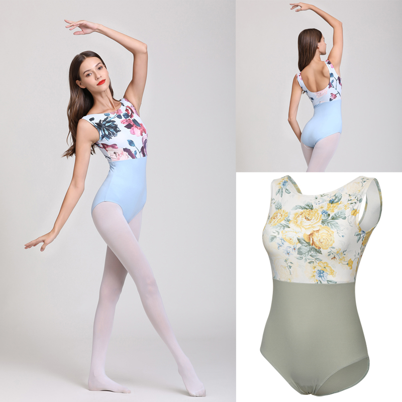 Ballet Leotard Adult Sky Blue High Quality Practice Ballet Vest Dancing Costume Women Gymnastics Leotard Dance Coverall