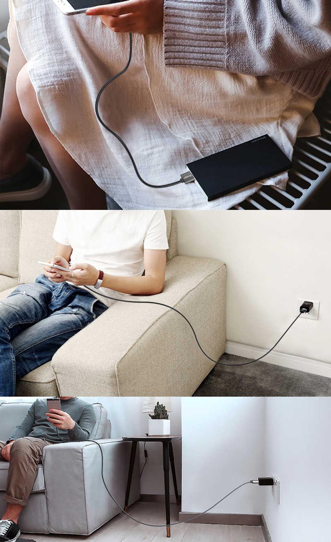 Essager manyetik mikro USB kablosu için IPhone Xiaomi K2 hızlı şarj veri kablosu kablosu mıknatıs şarj USB c tipi cep telefonu kablosu