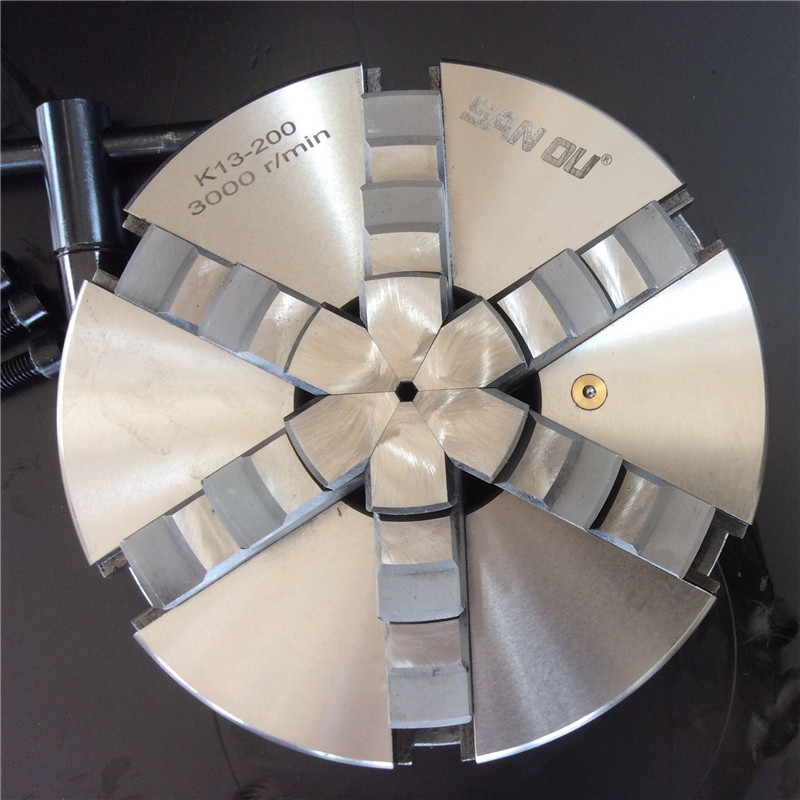 Jaw Lathe Chuck Lathe Chuck 6Jaw 125mm Self-Centering Six Jaw 5'' Chuck M8 For CNC Milling Lathe Machine K13-125