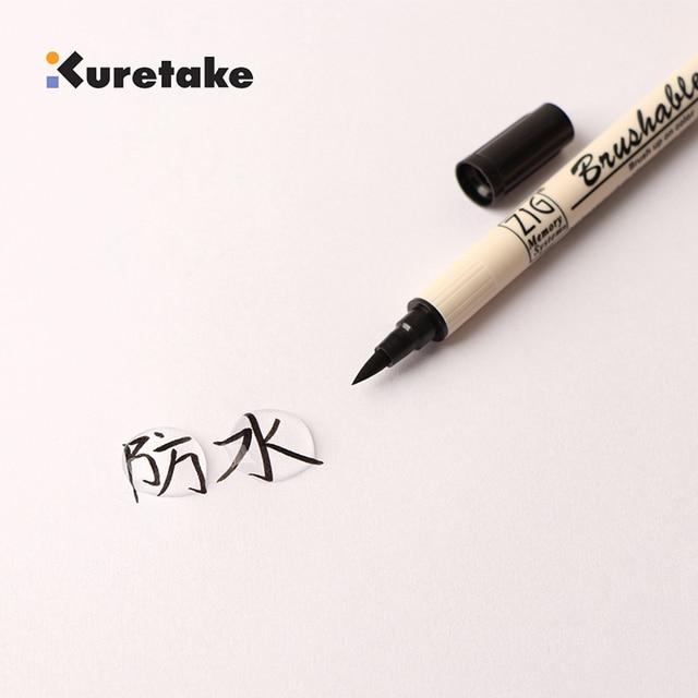 Kuretake 7700 ZIG profond peu profond double têtes souples deux couleurs aquarelle pinceau marqueur rouge/bleu/vert/violet/marron/jaune série