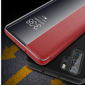 Image 5 - P20 Pro Luxury Genuine Leather Case For Huawei P30 Pro Case Smart Sleep/Wake Up Flip Case For Huawei P20 Pro Protector Cover