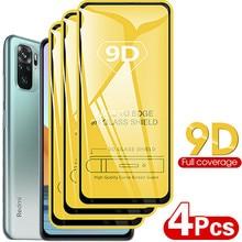 4 قطعة 9D ل Xiaomi Redmi ملاحظة 10 برو note10 برو شاشة حامي الزجاج المقسى Redmi ملاحظة 10 العالمية النسخة برو note10 برو