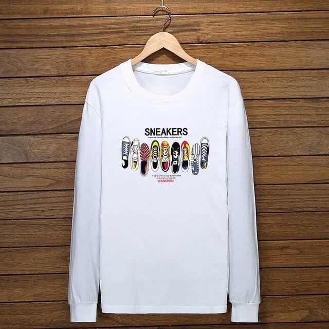 Autumn Men Cotton T-Shirt 10XL Long Sleeve Large Size Big Sale 6XL 7XL Tshirt Print Hipster Winter Cheap Man Navy Black Tees Others Men's Fashion