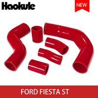 Silicone Turbo Pipe for Ford Fiesta ST 20014+ B3 1.6L Ecoboost BLACK AND RED