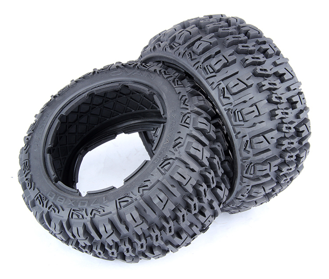 5B Upgraded Front and Rear Knobby Tire Skin Set Fit 1/5 HPI Baja 5B SS Rovan King Motor