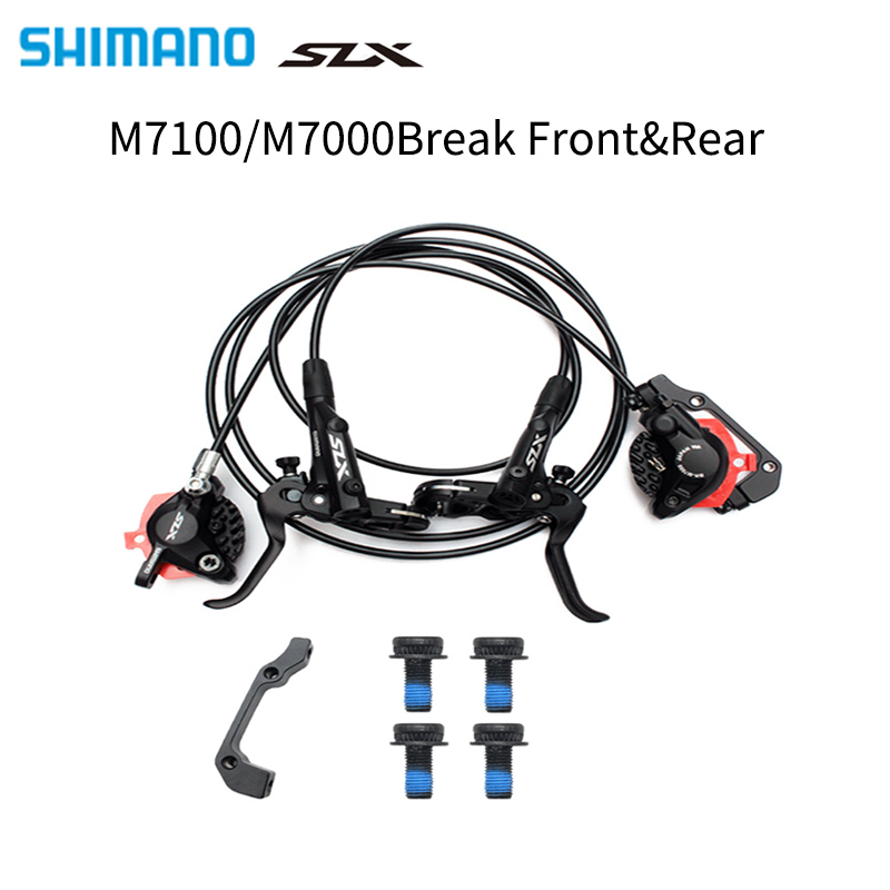 <font><b>Shimano</b></font> <font><b>SLX</b></font> <font><b>M7000</b></font> Hydraulic Disc <font><b>Brake</b></font> 2-Piston Caliper MTB bike <font><b>brake</b></font> <font><b>Brake</b></font> SM-BH90-SBM Bicycle <font><b>brake</b></font> image