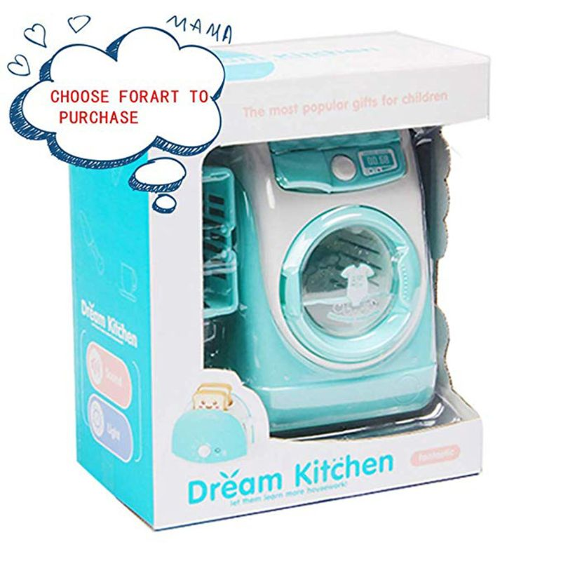 Mini Pretend Play Toy Simulation Washing Machine Toys Children Can Filling Water Kitchen Gift Q6PD