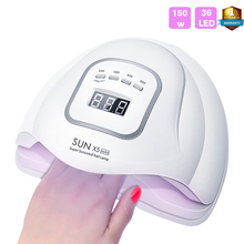 SUN X5 Max 150W 36 LEDs Nail Lamp Dryer for All Gel Polish Light nail Infrared Sensing Smart UV Lamps manicure