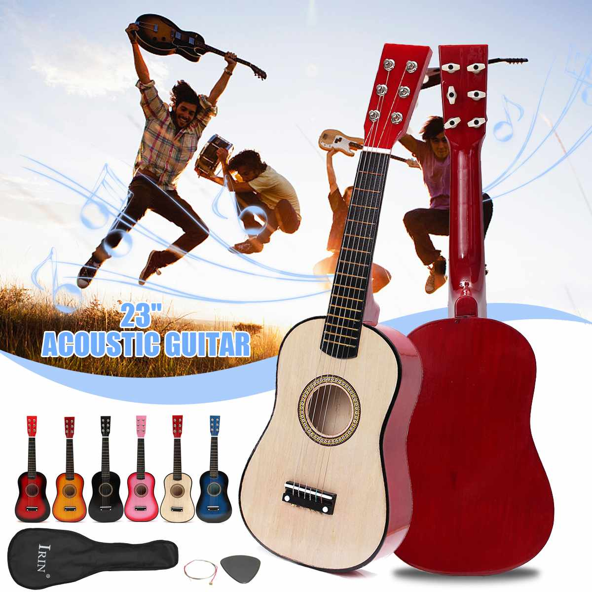 """23"""" Beginners Practice Acoustic Children Basswood 6 String Ukulele Guitar Musical Instrument For Beginners Or Basic Players"""