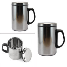 2020 Stainless Steel Double Wall Insulated Vacuum Flask Cokelat Kehitaman Teh Mug Termos Piala Perjalanan Air Panas Botol 350 Ml/500 Ml(China)
