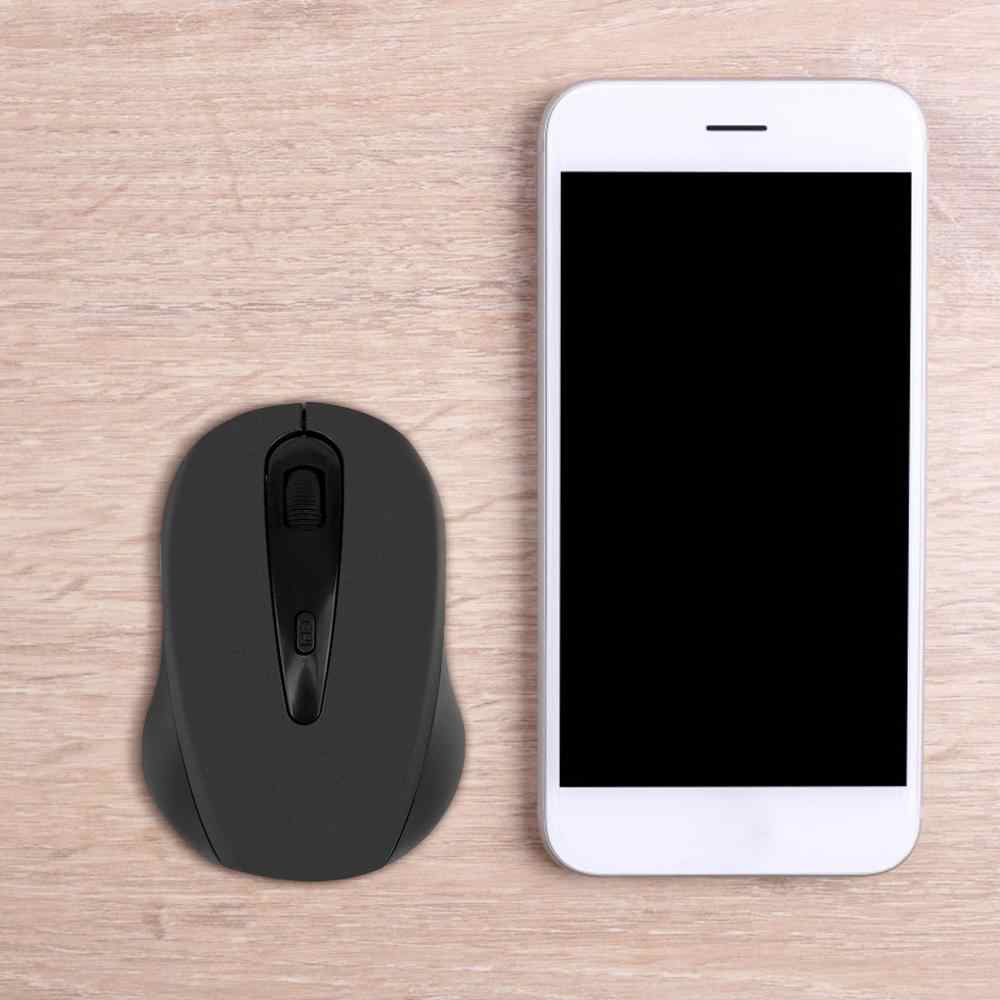2.4GHz Wireless Mouse 1600DPI Optical Computer Cordless Office Mice with USB Receiver