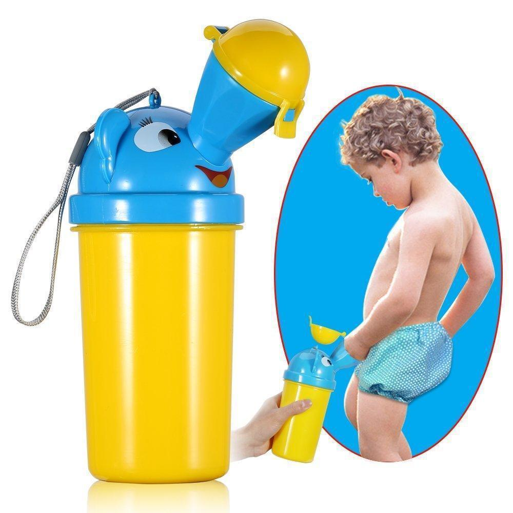 Children Portable Urinal Baby Travel Urinal Car Mounted Chamber Pot Mobile Washroom Children Urinal Chamber Pot