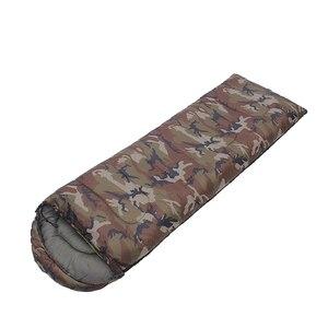 Image 1 - спальный мешок Конверт тип спальный мешок сращивание камуфляж военный портативный открытый походный спальный мешок светильник осенний кемпинг спальное снаряжение