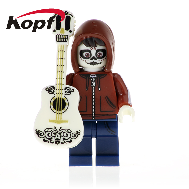 Single Sale Building Blocks The Day Of The Dead Coco Movie Bricks Hector Miguel Figures For Children Gift Toys  DA045