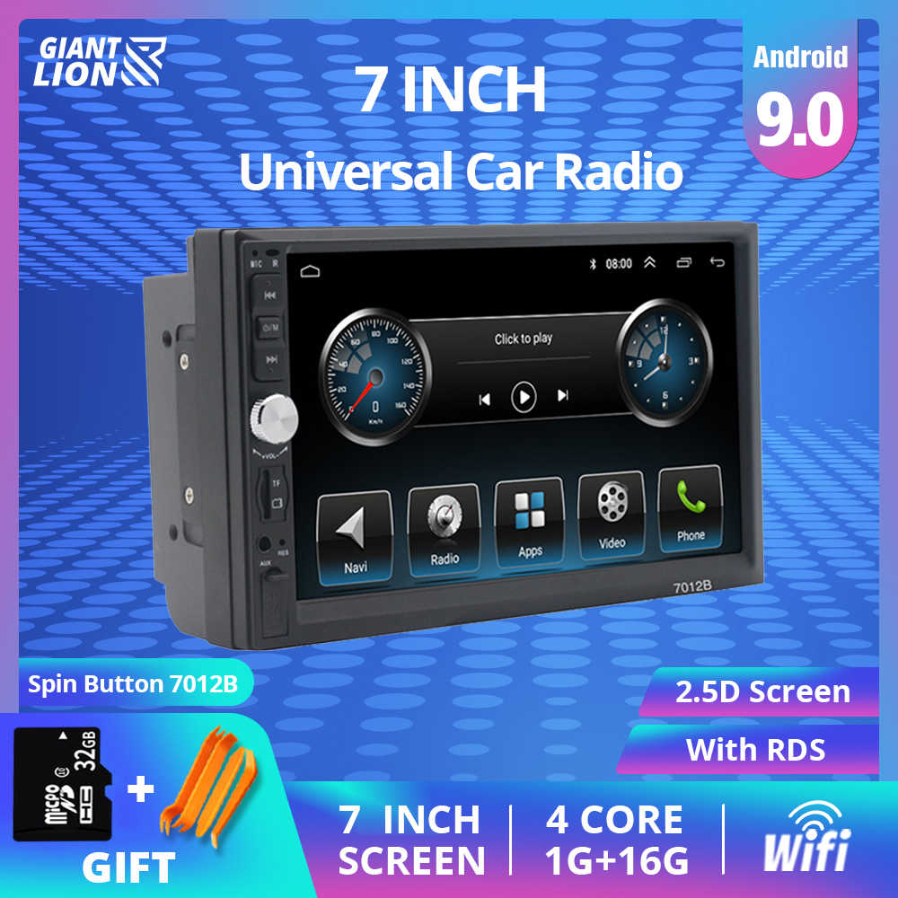 "2 Din Android 9.1 Auto Radio 7 ""Bluetooth Stereo Multimedia Speler Autoradio Touch Screen Auto Radio Voor Universele Auto dvd-speler"