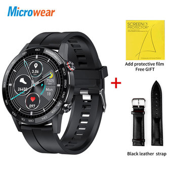 Microwear L16 Smart Watch Men Sports Fitness Tracker IP68 Waterproof Heart Rate Monitor Android IOS Full Touch Screen Smartwatch 25
