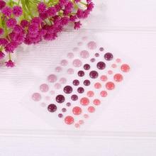 Various Pink-color Sugar Sprinkles Self-adhesive Enamel Dots Resin Sticker For DIY Scrapbooking Photo Album Cards Crafts Decor