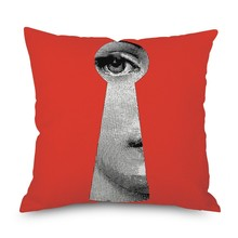 Hot 45x45cm Paintings Cushion Covers European Vintage Face Eye Cover Sofa Couch Decorative Linen Pillow Case