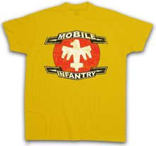 MOBILE INFANTRY LOGO T-Shirt Starship Army Squad Troopers Symbol Sign Logo Wholesale O Neck TEE Shirt(China)