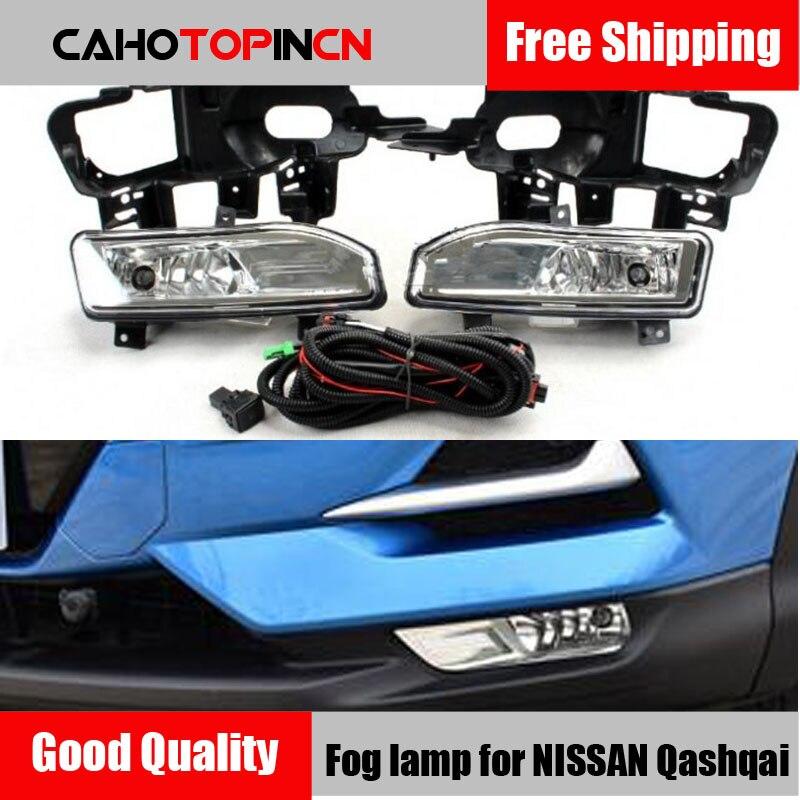 Надеясь 1 Комплект Высокое качество авто передний бампер противотуманная фара комплект для NISSAN Qashqai 2018 2019 Галогенные Противотуманные свети...