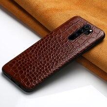 Genuine Leather phone case for Xiaomi redmi note 8 pro 7 4X 7a k20 movil fundas cover For mi 9t 9 se lite