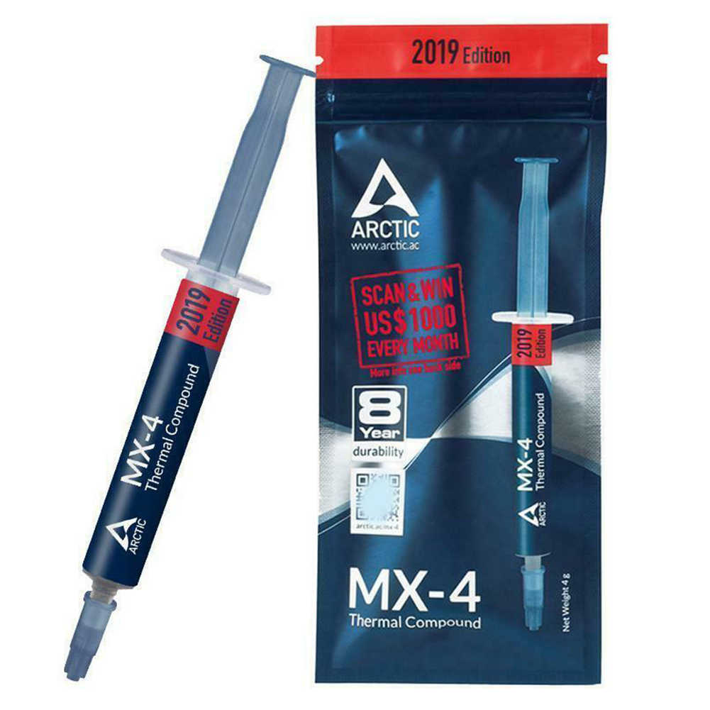 Arctic MX-4 4g amd processador intel cpu cooler ventilador de refrigeração graxa térmica vga composto dissipador calor emplastro mx4 pasta mais fria