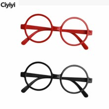 Harriom School Cosplay Round Black Red Frame Potter Toy Children Party Show Glasses Toys Gift