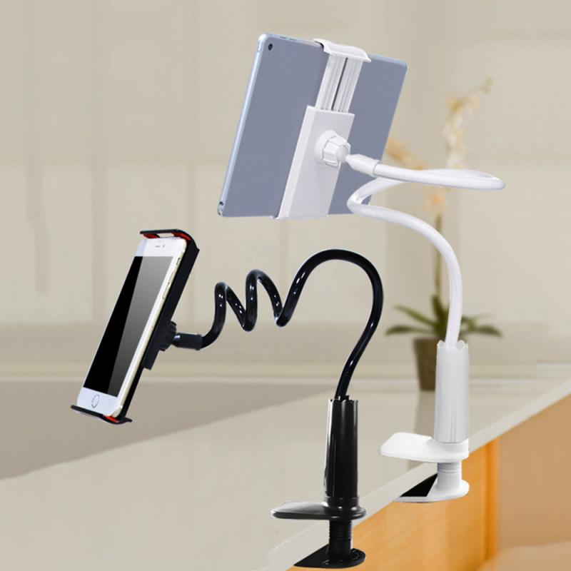 2020 Practical Flexible Rotate Long Arm Lazy Phone Holder Tablet Mount Bracket Stand Holder For Desk Bed Clip For Office Home