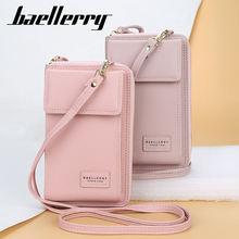 Женский кошелек baellerry кожаная сумка мессенджер цвета личи
