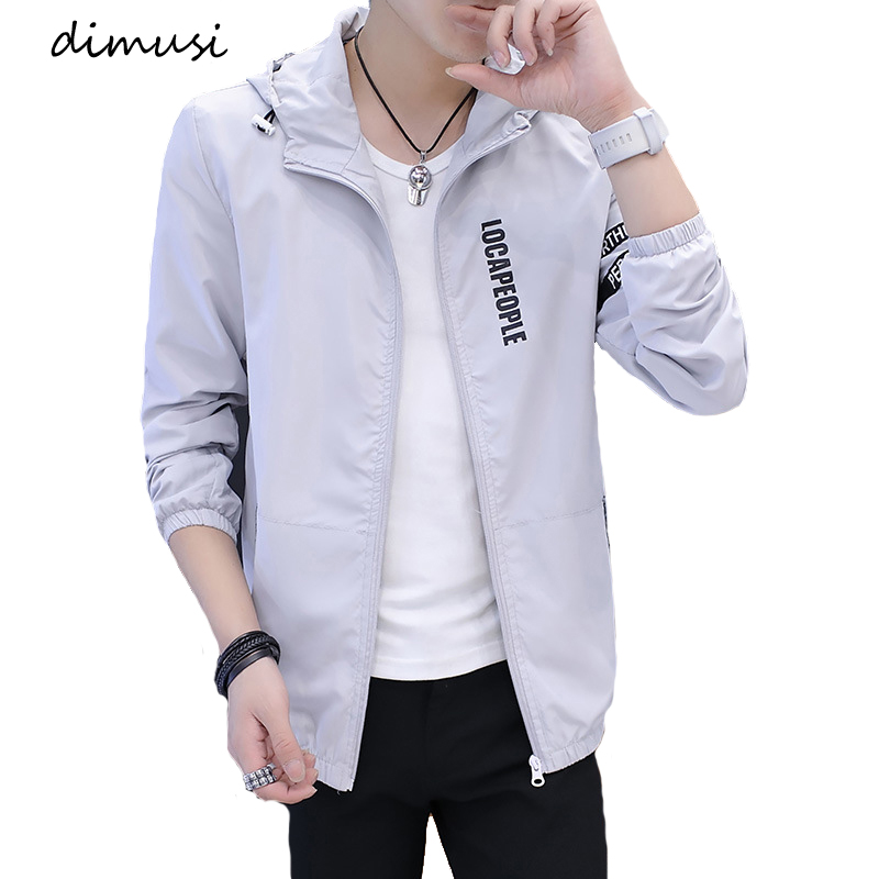 DIMUSI Spring Men's Bomber Jackets Fashion Men Anorak Hip Hop Hooded Coats Casual Male Outwear Baseball Uniform Jackets Clothing