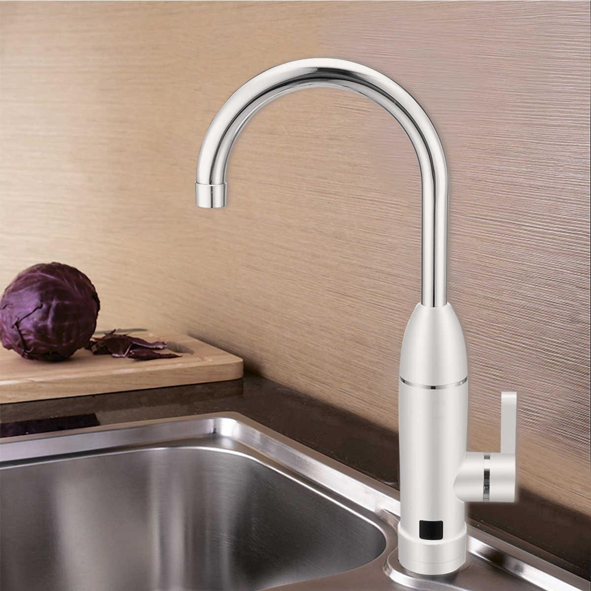 1pc אופנה חשמלי מיידי ברז + תרסיס צינור ברז דוד חימום ברז מים חיסכון למטבח אמבטיה לשטוף אגן