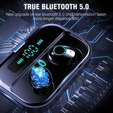 Venda quente toque tws verdadeiro fones de ouvido sem fio bluetooth mini tws headfrees à prova dwaterproof água com 3600mah power bank para todo o telefone