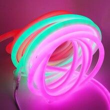 LED Neon Light 220V 120Leds/m 2835 Waterproof Rope Lights 1M 8*16mm Outdoor Party Decorative DIY Lighting Tape Letrero