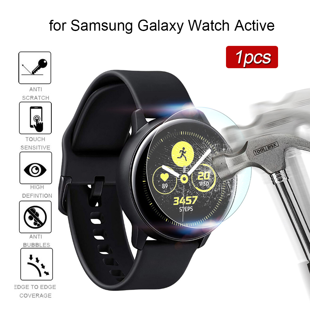 Tempered Glass On For Samsung Galaxy Watch Active Film 9h Glas Screen Protector Film Vidrio Templado Para Reloj Bubble Free