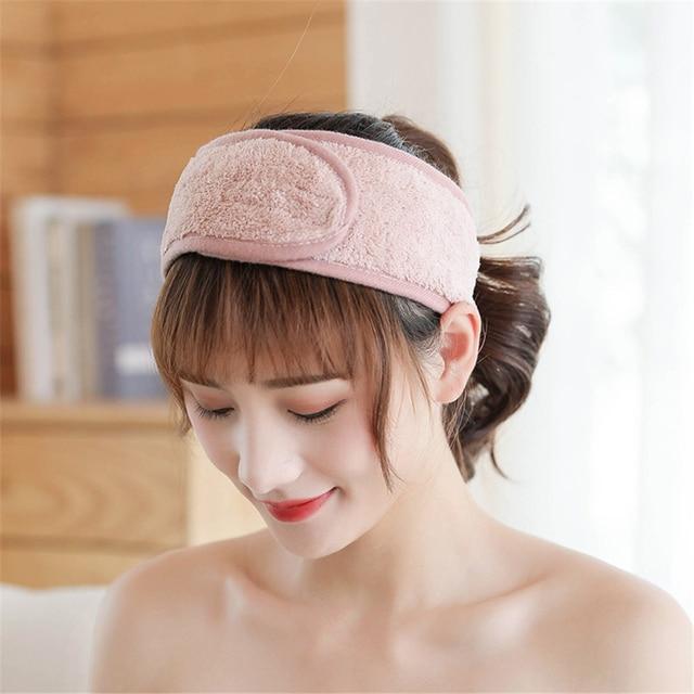 Women Adjustable SPA Facial Headband Bath Makeup Hair Band Headbands for Face Washing Soft Toweling Head Band Hair Accessories