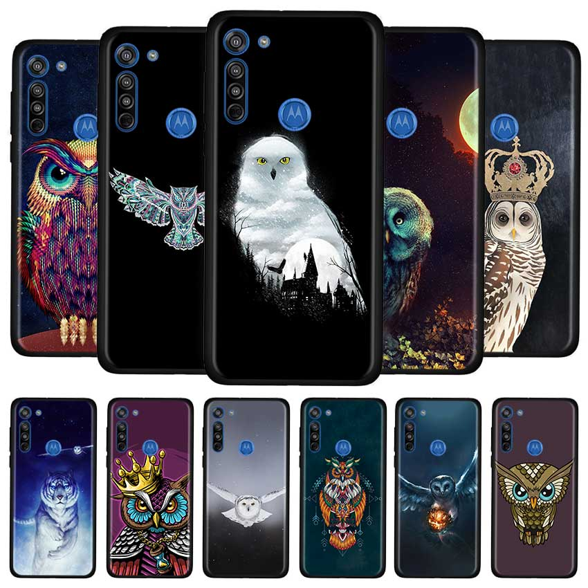 Cute Animal Owl Case For Motorola G8 Play G Stylus G Power G8 Power Lite E6s Edge Plus One Hyper Soft TPU Cover Couqe