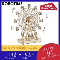 Robotime 232pcs Rotatable DIY 3D Ferris Wheel Wooden Model Building Block Kits Assembly Toy Gift for Children Adult TGN01