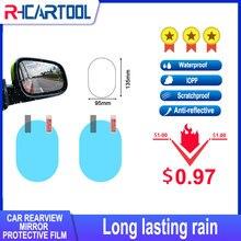 2PCS Anti Nebel Auto Spiegel Fenster Klar Film Anti-Licht Auto Rückspiegel Schutz Film Wasserdicht Regensicher Auto aufkleber