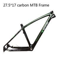 Last Stock New 27.5*17 MTB Bike Frame Ultra Light Full Carbon Moutain Frame Bicycle Frameset for Disc Brake