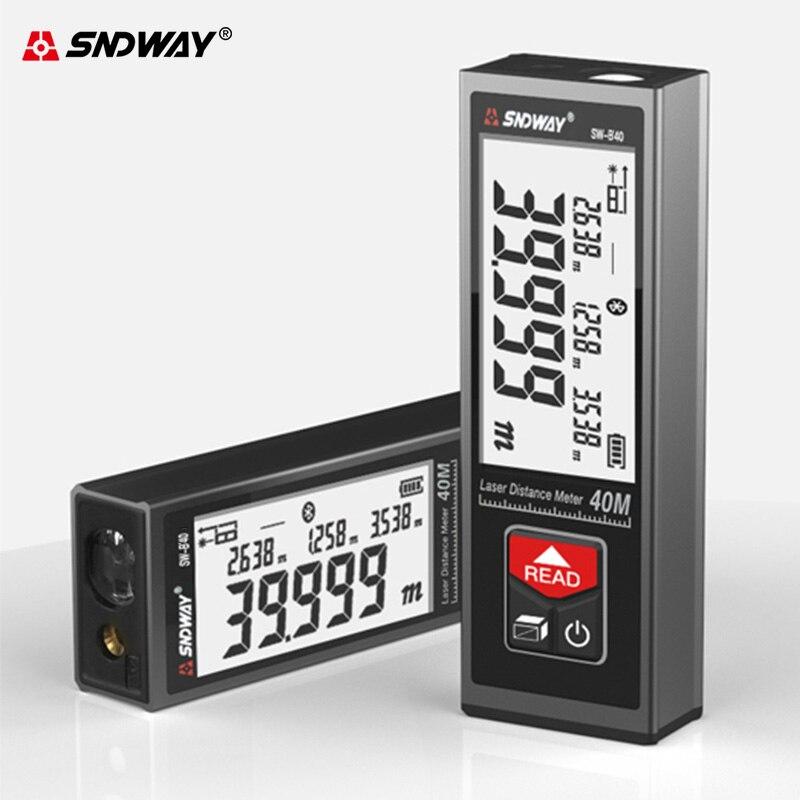 SNDWAY Laser Distance Meter Rangefinder 40M 50M 60M Electronic Roulette Laser Digital Tape Rangefinder Trena Tape Measure