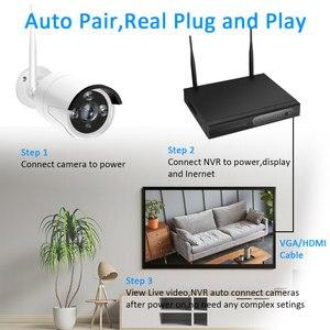 Image 2 - 1080p nvr cctv kit wifi sistema de câmera ip câmera sistema de segurança ao ar livre conjunto vigilância por vídeo