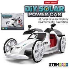 Solar Cars DIY Kit STEM Assembled Racing Solar System Robotics Educational Toys Robot Technology Energy for Kids Student Boys