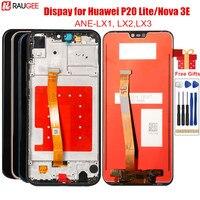 Huawei P20 Lite LCD 화면 용 전면 프레임 LCD 디스플레이 터치 스크린 디지타이저 교체 Huawei P20 Lite Lcd 용