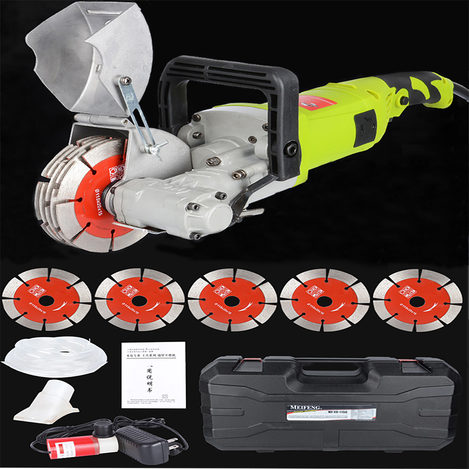 4000W 220V Electric Wall Chaser Groove Cutting Machine Slotting Machine Concrete Cutting Machine Circular Saw Electric Tool