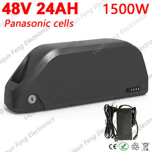 Free Tax 48V Battery 48V 12Ah 13Ah 14Ah 15Ah 16Ah 17Ah 20Ah 22Ah 24Ah Down Tube Ebike Battery use Panasonic cell for 1000W 1500W(China)